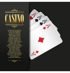 Casino background Poker vector image