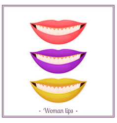 color woman lips vector image
