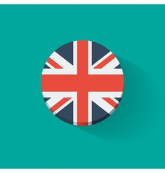 Round icon with flag of the UK vector image vector image