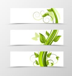 Set of header banner natural design vector image