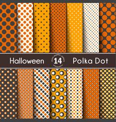 fourteen polka dot on the halloween seamless vector image