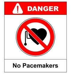 No access with cardiac pacemaker sign vector