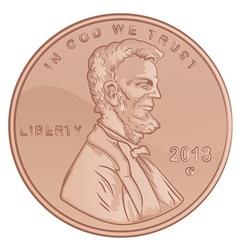 Penny cartoon vector