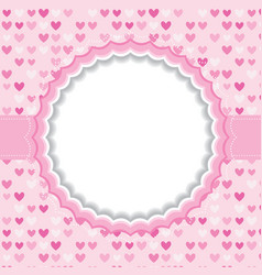 Blank frame with heart background vector image