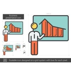 Businessman presentation line icon vector image vector image