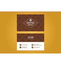 Coffee House Business Card Design vector image vector image