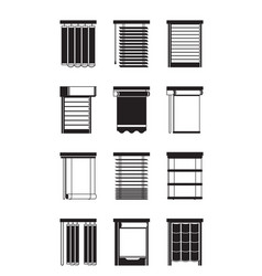 different interior blinds vector image vector image