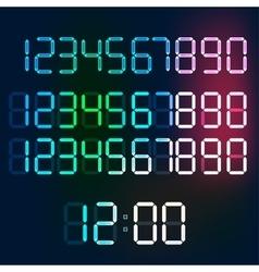 Digital Numerals vector image