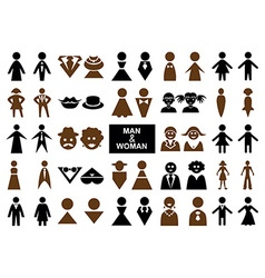 icons man and woman vector image vector image