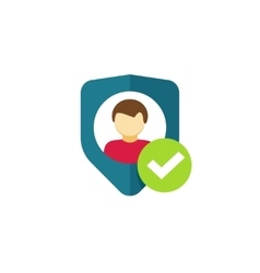 User authentication icon privacy emblem vector image vector image