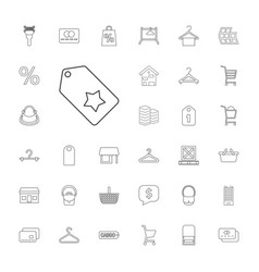 33 retail icons vector