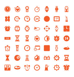 49 clock icons vector image