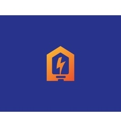 Abstract flash house logo design template vector image