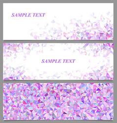 Abstract polygonal banner template design set vector
