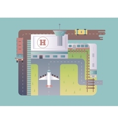 Airport top view vector