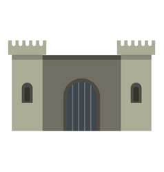 ancient fortress icon isolated vector image vector image