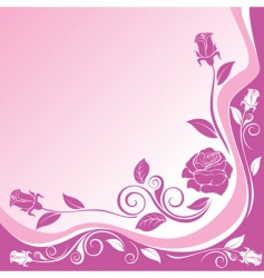 background with ornaments of roses vector image