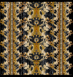 baroque seamless pattern damask background vector image