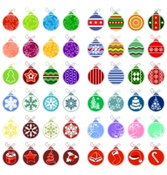 big collection of different christmas balls vector image