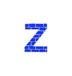 Brick logo letter z vector