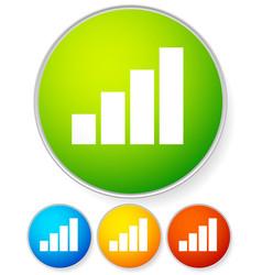bright bar chart icon vector image