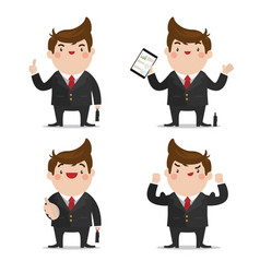 businessman set 1 vector image