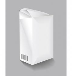 cardboard carton vector image