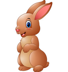 cartoon brown rabbit vector image