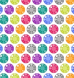 Cartoon gems seamless pattern vector image