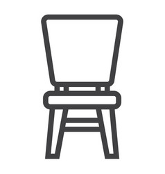 Chair line icon furniture and interior vector