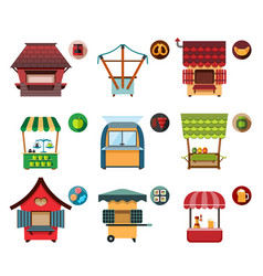 Collection of movable and fixed stalls for vector