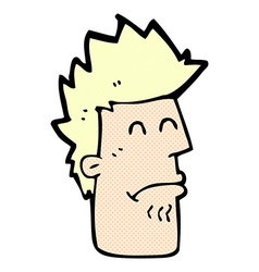 comic cartoon man feeling sick vector image
