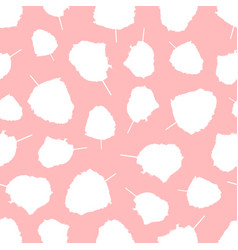 Cotton candy on stick cloud sugar seamless pattern vector