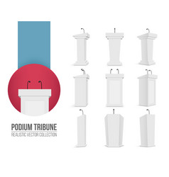 creative of podium tribune vector image