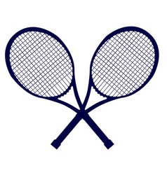 Crossed rackets silhouette vector