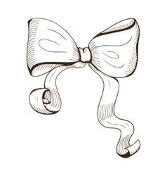 Decorative bow vector image