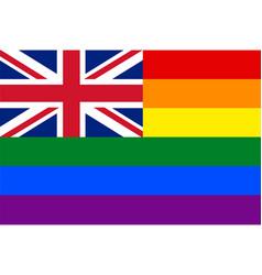 English gay flag or lgbt vector