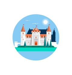 Fairytale castle isolated on white fairy white vector