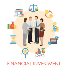 financial investment banner poster vector image