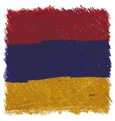 Flag of Armenia handmade square shape vector image