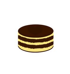 fresh chocolate cake dessert cartoon vector image
