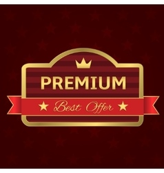 Golden Premium label vector