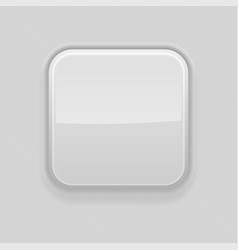 Gray square 3d button plastic interface element vector