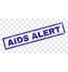 Grunge aids alert rectangle stamp vector