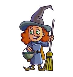 Happy halloween Cartoon cute child in costume vector image