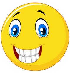 Happy smiley face vector image vector image