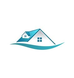 house roconstruction business logo vector image