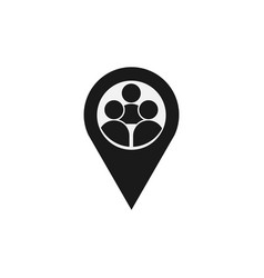 Human location template design vector