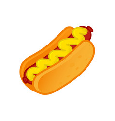 icon hot dog vector image