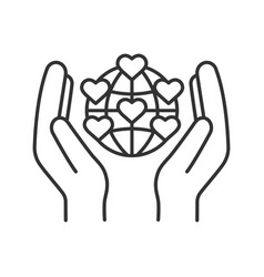 international charity linear icon vector image